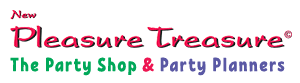 New Pleasure Treasure – Birthday Party Planners & Shop Logo